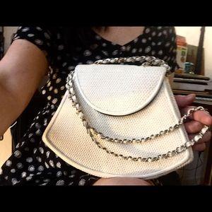 La Regale vintage woven crossbody purse 1960s